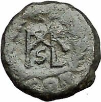 MARCIAN 450AD Ancient Genuine Rare Roman Coin Monogram within wreath  i55887