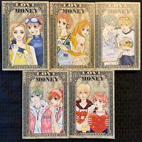 Love or Money 1, 2, 3, 4, 5 Graphic Novel Manga Complete Tokyopop OOP