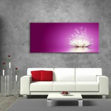 Glass Picture Toughened Wall Art Unique Modern  Magic Lotus Flower  Any Size