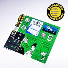 CUSTOM sticker for LEGO 7783 Batman Batcave Joker Two-Face, Premium quality