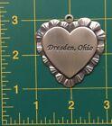 dresden ohio longaberger pewter heart basket tie on medallion charm ornament