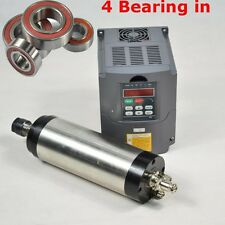 FOUR BEARING ER20 2.2KW WATER COOLED MOTOR SPINDLE AND DRIVE INVERTER VFD CNC