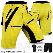 MTB Cycling Short Off Road Cycle Anti-Bac CoolMax Padded Liner Shorts Dimex NEW