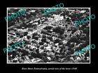 OLD LARGE HISTORIC PHOTO OF BRYN MAWR PENNSYLVANIA AERIAL VIEW OF THE TOWN c1940