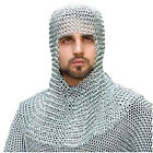 Butted Aluminium Chain Mail Coif Medieval Chainmail Hood Larp Movie Costume