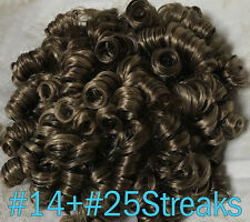 [LARGE] Curly Dancer's Wiglet Ringlets Bun Drawstring Comb Dancers Hair Piece
