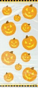 20 Pumpkin Cellophane Cello Bags Halloween Gifts Sweet Loot Favour Party Filler