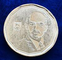 Israel Special Issue 5 New Sheqalim Haim Wizeman 1992 Coin XF+/AU