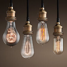 Vintage Industrial Hanging Luminaire Ceiling Lamp Copper Shade Pendant Lighting