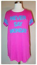 Sleep Shirt Plus Size 2X Womens Nightgown Summer Cotton Lounge Pink NWT