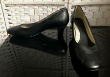 Ladies K by Clarks Black Leather Court Shoes Size 5