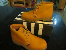 Buckle My Shoe boots Yellow Nabuk LINEA CHUKKA size 34 NEW in BOX