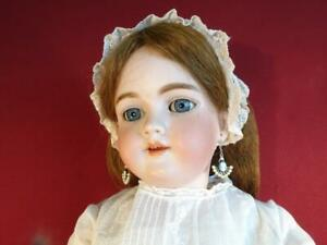 "ANTIQUE 1890s HEINRICH HANDWERCK #5 BISQUE HEAD GERMAN DOLL 28"" COMPOSITION BODY"