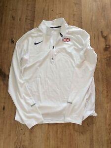 Nike GB Athletics Team Men's Dri-fit Long Sleeve Quarter Zip Size L