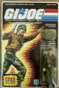 💎MINT VINTAGE 1985 HASBRO GI JOE ARAH~~GENERAL HAWK~~MOC SEALED UNPUNCHED💎