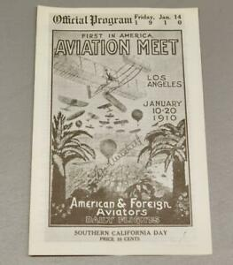 1910 LOS ANGELES FIRST IN AMERICA AVIATION MEET PROGRAM • FLOYD CLYMER REPRINT