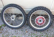 Honda CR 125 250 CRF 250 450 R (2002-2016) Front & Rear Wheels + Mousses + Tyres