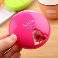 1 Pc Portable 7 Days Drug Pill Container Rotation Weekly Rotating Pillbox Travel
