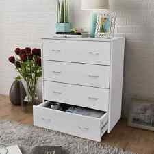 4 Drawer Sideboard Chest of Drawers Bedroom Furniture Storage Clothes White
