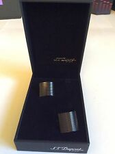 S.T. Dupont Cufflinks Black PVD Coated Semi Cylindrical 005174N