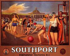 SOUTHPORT SWIM CLUB ENGLAND UNITED KINGDOM TRAVEL 8X10 VINT POSTER REPO FREE S/H