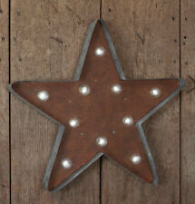 Country new large Rustic tin LED wall STAR / battery operated / nice