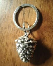 NEW!! Large Silver Pine Cone Key Chain US Seller