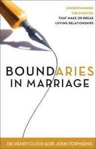 Boundaries in Marriage - Paperback By Cloud, Henry - VERY GOOD