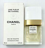 CHANEL Une Fleur De Chanel EAU DE TOILETTE spray 35 ML 1.2 fl oz RARE 1990s