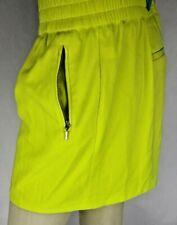 Jennifer Lopez Neon Yellow Elastic Waist Zipper Pockets Shorts Women XL