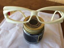 Rare Funky Alain Mikli Paris A.M 25 Sunglasses Frame White Cream Color