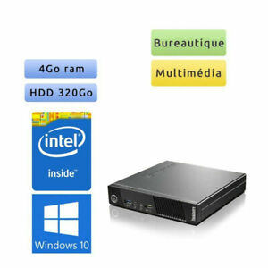 PC - Mini Tour Lenovo M73 Tiny [Win10Pro - OfficePro - DD:320Go - RAM:4Go]