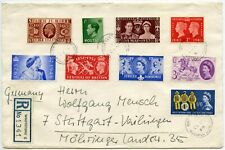 GB 4 reinado multifranking registrado Whetstone 9 Sellos 1964 a Alemania