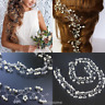 Women Pearl Wedding Hair Vine Crystal Bridal Diamante Headbands Accessories New