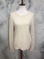 EQUIPMENT FEMME Cream 100% Cashmere Pullover Sweater Womens Medium Small