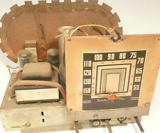 vintage * Art Deco EMERSON RADIO  ED-354: UNTESTED CHASSIS MODEL SEE w 5 TUBES