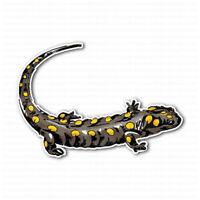 Yellow Spotted Lizard Salamander Laptop Locker Car Bumper Sticker Decal