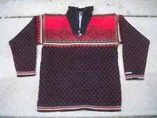 Mens Vintage Wool SWEATER Devold Norway Size Large Sweater Windstopper Norwegian