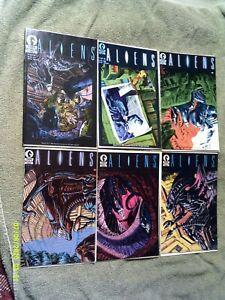 ALIENS 1,2,3,4,5,6 COMPLETE SET/ DARK HORSE COMICS 1988