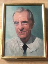 VINTAGE Realistic Male Portrait Painting Oil On Canvas Signed + Dated