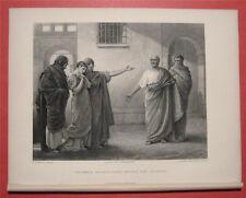 1877 Antique Linton Art Print Volumnia Brutus Sicinius