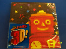 Party Bots Toy 3D Robot Space Boys Kids Birthday Party Paper Luncheon Napkins