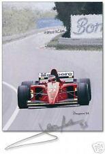 1995 Canadian GP. Ferrari Jean Alesi Signed Limited Edition by Arthur Benjamins