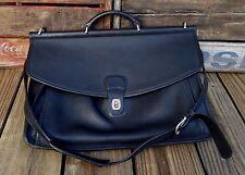 COACH Glove Tanned Black Leather Dowel Rod Business Messenger Shoulder Bag