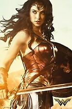 WONDER WOMAN SWORD AND SHIELD  - ART POSTER 24x36