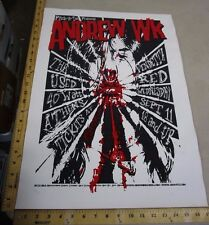 MB/ Rock Roll Concert Poster Andrew Wk Jeff Wood #150