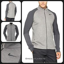 Nike Golf Sweater Tech Full Zip, Sz Lrg, 833290-091, Carbon Heather