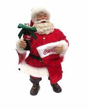 Coca-Cola  Kurt Adler 2017 Fabriche Santa with Coke and Stocking- BRAND NEW