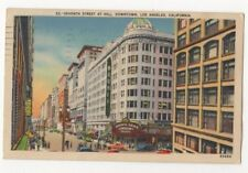 7th Street Downtown Los Angeles USA 1943 Postcard Sam Hecht Cutting US097