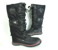 PAJAR Women's Winter Boots Leather Insulated Liner Black Size US 6.5 [A53]